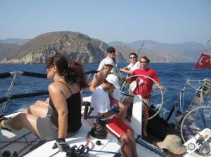 Обучение на яхте Джима
